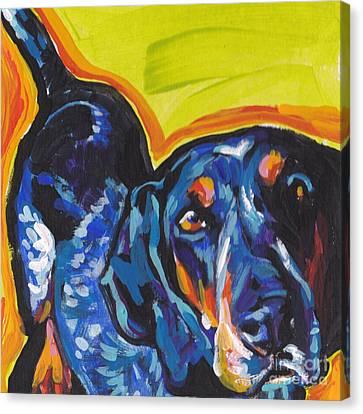 Big Blue Ear Baby Canvas Print