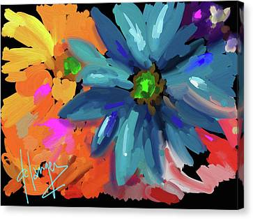 Big Blue Flower Canvas Print by DC Langer
