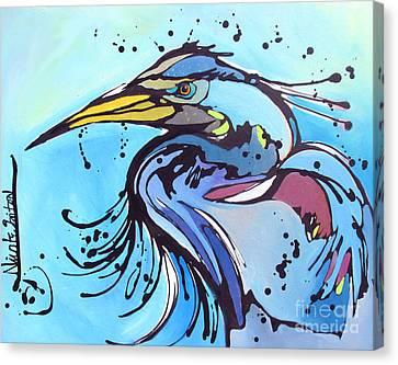 Big Blue Canvas Print by Nicole Gaitan
