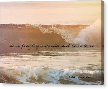 Big Blue Ocean Quote Canvas Print by JAMART Photography