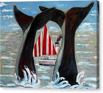 Big Blue Splash Canvas Print by Charlie Spear
