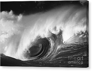 Big Breaking Wave - Bw Canvas Print by Vince Cavataio - Printscapes