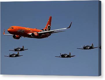 Big Brother Fly Pass Canvas Print by Sean Presher-Hughes