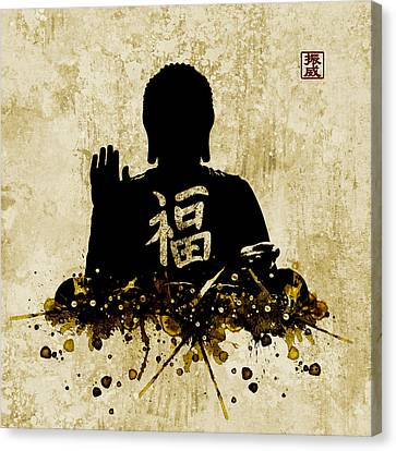 Hoodie Canvas Print - Big Buddha Blessing by JW Digital Art
