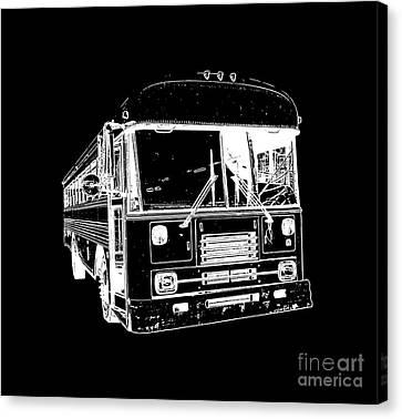 Big Bus Tee Canvas Print