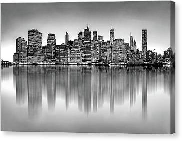 Big City Reflections Canvas Print by Az Jackson