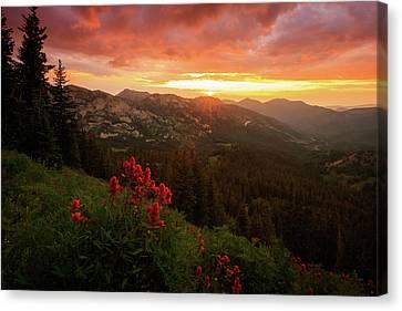 Clayton Canvas Print - Big Cottonwood Sunset by Johnny Adolphson