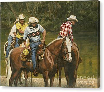 Big Creek - 4 Riders Canvas Print