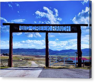 Big Creek Ranch Canvas Print by L O C