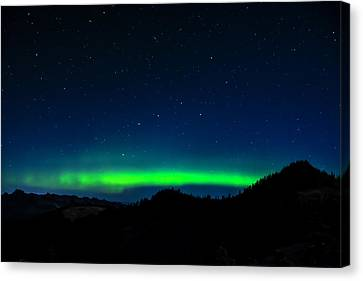 Big Dipper Northern Lights Canvas Print by Pelo Blanco Photo