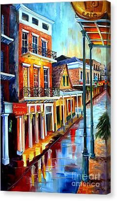 Big Easy Rain Canvas Print by Diane Millsap