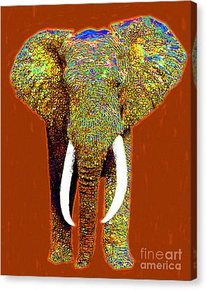 Big Elephant 20130201p20 Canvas Print by Wingsdomain Art and Photography