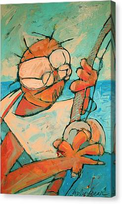 Big Game Sport Fishing Canvas Print by Charlie Spear