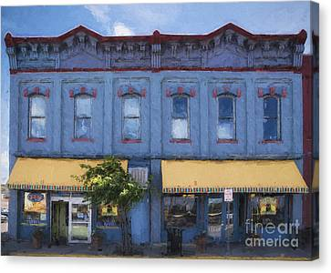 Grocery Store Canvas Print - Big Hollow Food Coop Of Laramie Wyoming by Priscilla Burgers