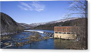 Canvas Print featuring the photograph Big Island Power Plant by Alan Raasch