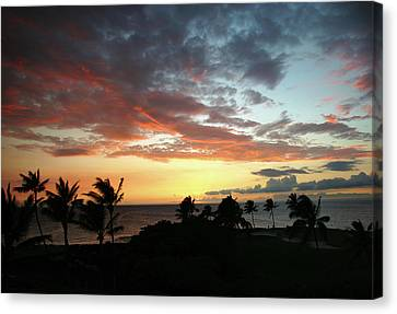 Canvas Print featuring the photograph Big Island Sunset #2 by Anthony Jones