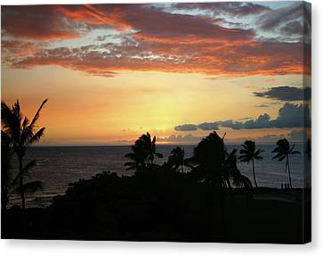 Canvas Print featuring the photograph Big Island Sunset by Anthony Jones