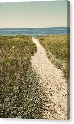 Canvas Print featuring the photograph Big Lake Beach Path by Michelle Calkins