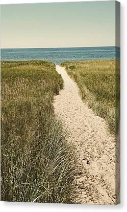 Canvas Print featuring the photograph Big Lake Beach Path by Michelle Calkins