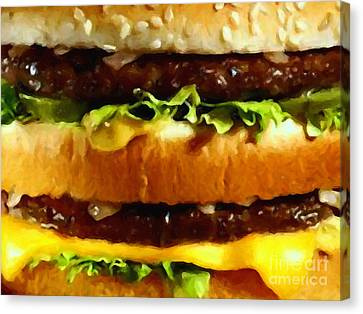 Big Mac - Painterly Canvas Print by Wingsdomain Art and Photography