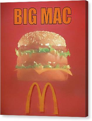 Hamburger Canvas Print - Big Mac Poster by Dan Sproul