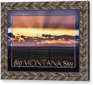 Canvas Print featuring the photograph Big Montana Sky by Susan Kinney