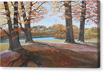 Big Oaks In Fall Canvas Print by Werner Pipkorn