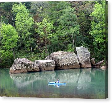 Big Piney Creek 1 Canvas Print by Marty Koch