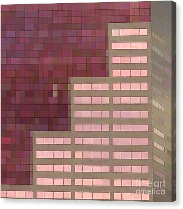Big Pink Abstract Canvas Print by Noel Zia Lee