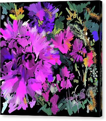 Big Pink Flower Canvas Print by DC Langer
