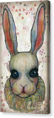 Big Rabbit Canvas Print by Akiko Okabe