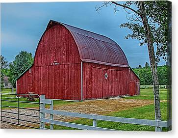 Canvas Print featuring the photograph Big Red Barn At Cross Village by Bill Gallagher