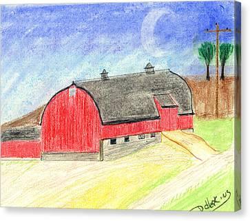 Big Red Barn Canvas Print by John Hoppy Hopkins