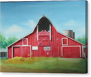 Big Red Barn Canvas Print by Oz Freedgood