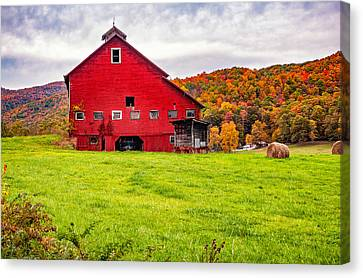 Big Red Barn Canvas Print by Steve Harrington