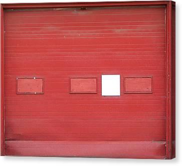Big Red Door With Accent Canvas Print by Ben Freeman