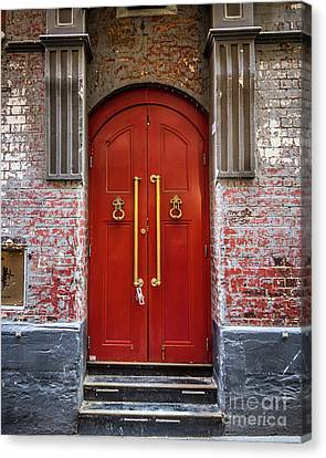 Canvas Print featuring the photograph Big Red Doors by Perry Webster