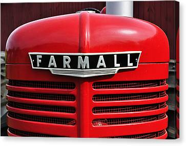 Big Red Farmall Canvas Print by Luke Moore
