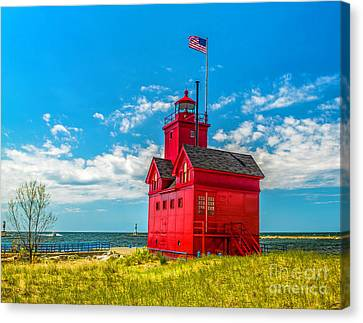 Big Red In Holland Canvas Print by Nick Zelinsky