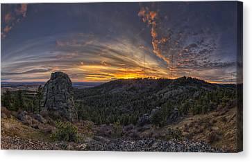 Big Rock Panorama Canvas Print by Mark Kiver