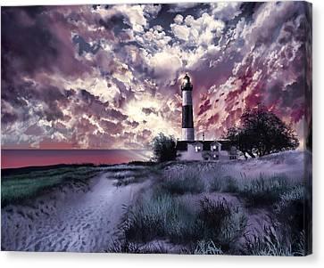 Beach Scenes Canvas Print - Big Sable Lighthouse 2 by Bekim Art