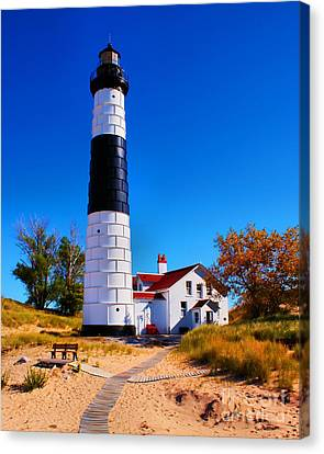Big Sable Point Lighthouse Canvas Print by Nick Zelinsky