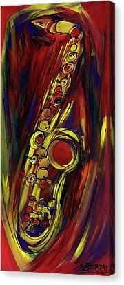 Big Saxy Jazz Canvas Print