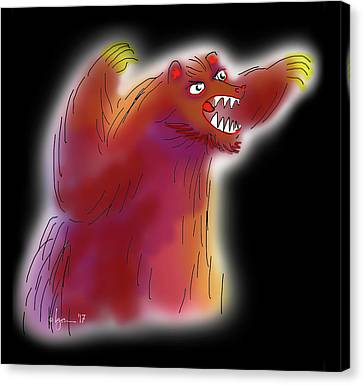 Big Scary Bear Canvas Print