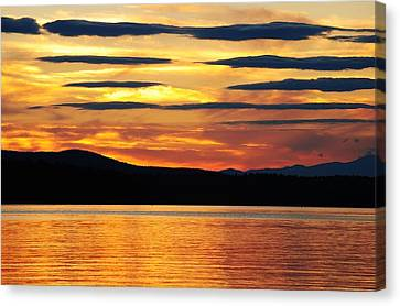Canvas Print featuring the photograph Big Sebago Lake by Paul Noble