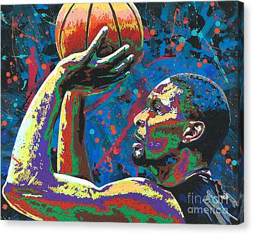 Mr. Basketball Canvas Print - Big Shot Bosh by Maria Arango