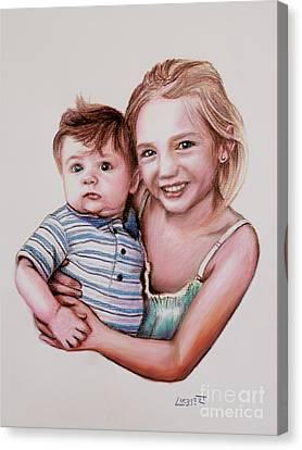 Big Sister Canvas Print by Dave Luebbert