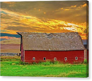Big Sky Country Barn Canvas Print by Randall Branham