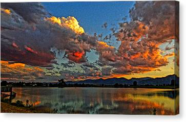 Canvas Print featuring the photograph Big Sky by Eric Dee