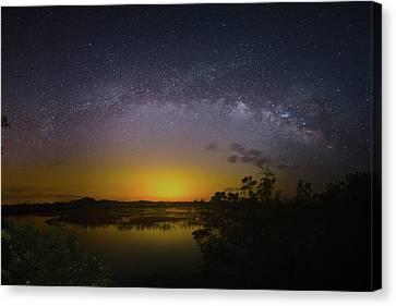 Big Sky Galaxy Canvas Print by Mark Andrew Thomas